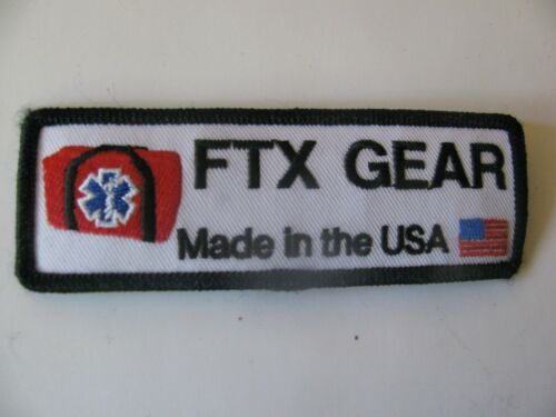 """FTX GEAR EMT EMS Rescue Patch Iron On 4""""  Rare Logo Bag Free Shipping"""