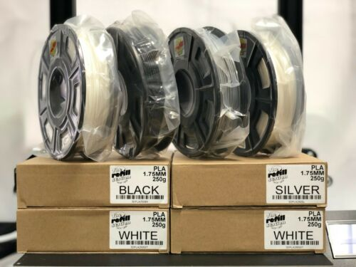 3D Printer Filament PLA 250g 1.75mm Roll, 3 DIFFERENT COLORS TO CHOOSE