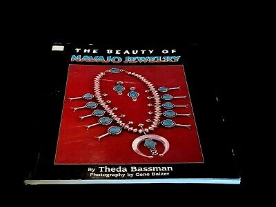 """SC 11"""" Reference Picture Book - Native American Indian Navajo Jewelry - Bassman"""