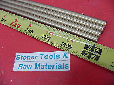 4 Pieces 14 C360 Brass Round Rod 36 Long Solid H02 .250 Lathe Bar Stock