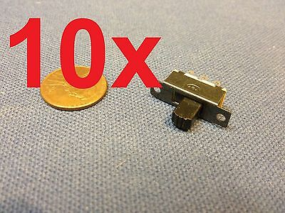 10x Mini Spdt Slide Switch On-off Pcb 6p 2t 23.37.3mm Pitch Row 19mm Toggle C1