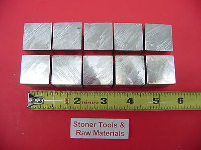 10 Pieces 1 X 1 6061 Square Aluminum Flat Bar 1.5 Long T6511 New Mill Stock