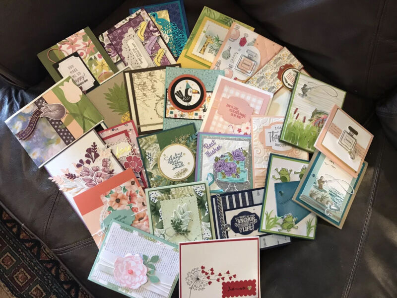 Stampin Up Handmade Cards Set Of 25 Full Cards.Lot 2