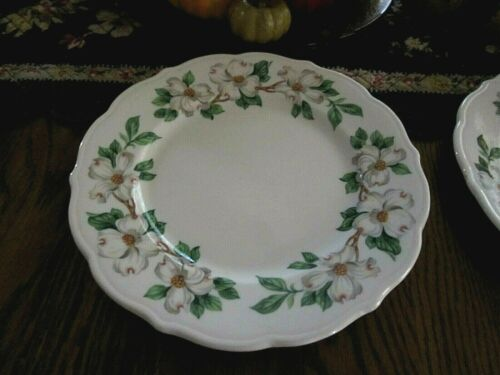 2 SYRACUSE RESTAURANT WARE CHINA PLATES~DOGWOOD~10 IN.& 9 IN.