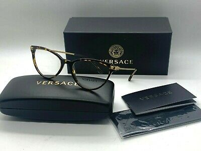Versace Women New Eyeglasses VE 3261 108 TORTOISE 54-17-140MM NIB