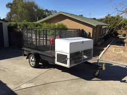 8x5 Trailer with high cage and drop down ramp Calwell Tuggeranong Preview