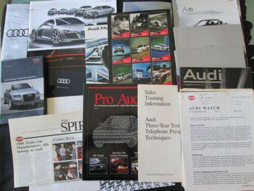 1989-2018 Audi 24 Brochure Set Dealer Fact Book Training Catalog 200 Quattro