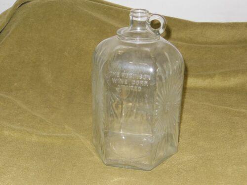 Vintage Robinson ONE GALLON Glass Wine Bottle/Jug - Embossed Design/empty
