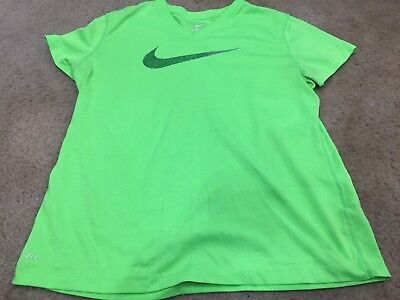 197f19794bad Youth Girl s XL Nike Dri Fit Athletic Fitness Shirt Neon Green. Free  Shipping