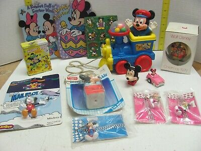 Mickey Mouse Disney Large Lot Asst. Books Toys Train Xmas Zipper Pulls More!!