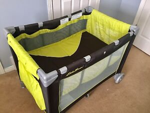 Almost new Eddie Bauer Portable Playpen with canopy