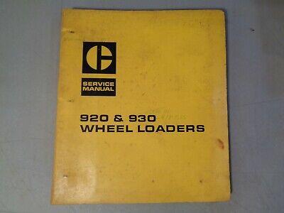 Caterpillar Service Manual For Wheel Loaders 920 930 41k 62k