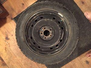 Bridgestone Blizzak winter tires 225 55 18 on rims