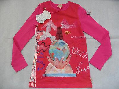 PEZZO DORO schönes Langarmshirt rot pink m. Druck Gr. 152 NEU ST818 online kaufen
