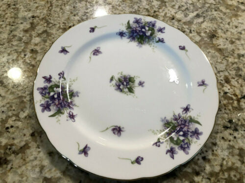 "Rossetti Spring Violet Occupied Made in Japan  10"" Dinner Plate Handpainted"