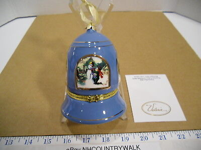 Mr. Christmas Valerie Parr Hill Musical Handcrafted Christmas Blue Bell Ornament