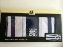 Maggie beer 3 tea towel gift set blue new Lilyfield Leichhardt Area Preview