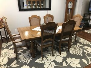Solid Oak Dining Room Set - Best offer takes it!