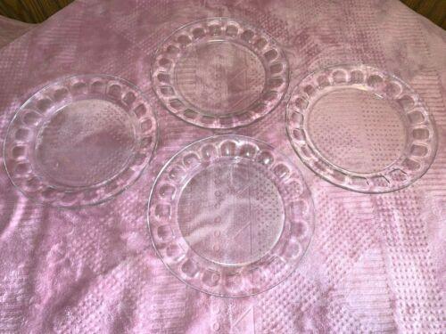"""4 Unused DINNER PLATES 9"""" ARCOROC FRANCE THUMBPRINT * 29 Available * Vintage"""