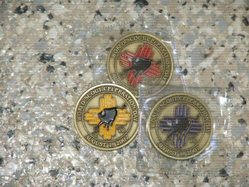 Philmont World Scout Celebration coin set August 1. 2007 - 3 coin set