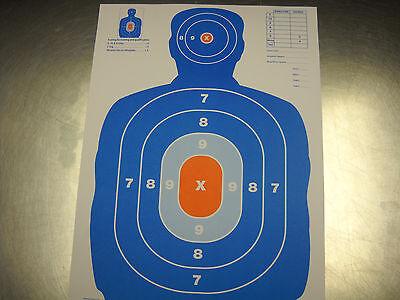30 Blue/Orange Airsoft Pellet BB Gun Silhouette Paper Shooting Targets 9x12 (Airsoft Pellet Gun)