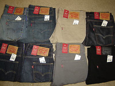 Levis 513 Jeans New Men Levi's Slim Straight Fit Retail $70