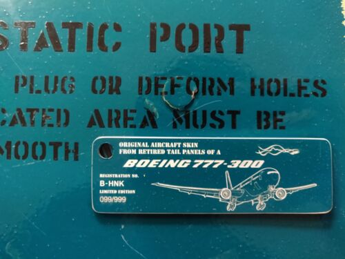 Airlinertags Cathay Pacific B777 B-HNK Green (Rectangle)
