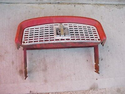 Farmall 340 Rc Tractor Ih Ihc Nice Front Nose Cone Top Grill Bonnet Ih Emblem