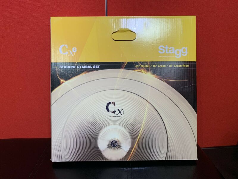 "Stagg CXG Cymbal Set - 13"" Hi Hats, 16"" Crash And 18"" Crash / Ride Cymbals"