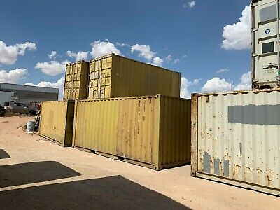 Used 20 Dry Van Steel Storage Container Shipping Cargo Conex Seabox Phoenix