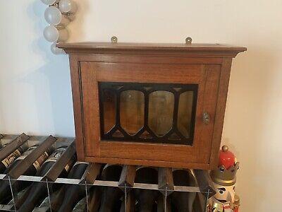 Vintage Antique Glass Front Display Cabinet Handmade Teak Wood
