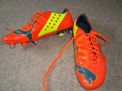 Puma Evo Power orange Football boots.  UK 7