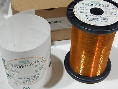 Mws 945997-0238 38awg Copper Magnet Wire 467 Grams M117712-020380