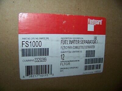 Fleetguard Fuel Water Seperator 12 Each Part Fs1000