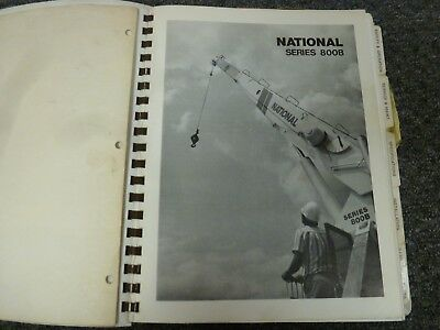 National 800b Series Crane 839b 856b 875b Operator Parts Service Repair Manual
