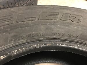 "2 x 18"" all weather tires"