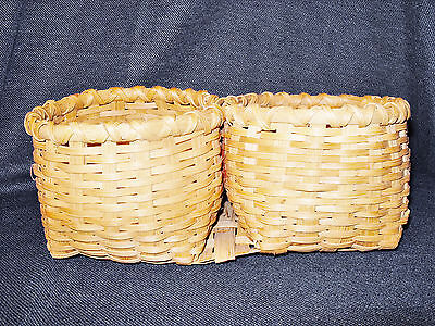 VTG unique Hand Woven 2 body intertwined New Hamspshire Basket EUC Made in China