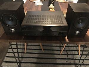 Yamaha amp and Polk bookshelf speakers