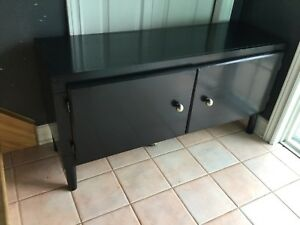 Black bench/ entertainment cabinet- 1 avail