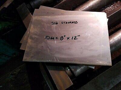 316 Stainless Steel Flat Bar Sheet 10ga 18 X 8 X 12 Machine Stock