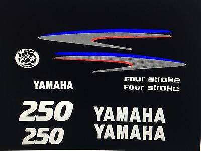 Yamaha 250 hp Outboard Decal Kit four stoke  Marine Vinyl NOT ink-jet