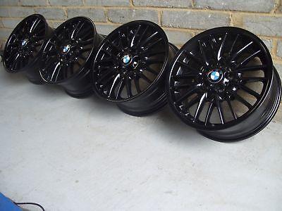 """MV1 Alloy Wheels GLOSS BLACK - Genuine BMW 18"""" E36 E46 E90 E92: M3 MV2 MV3 MV4"""