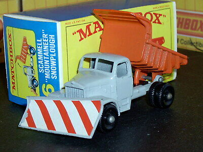 Matchbox Lesney Scammell Snow Plough 16 c2 BPW closed step SC5 EX/NM crafted box