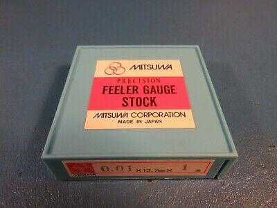 Mitsuwa Feeler Gauge Stock 0.01 X 12.7mm Wide X 1 Meter Long Starrett