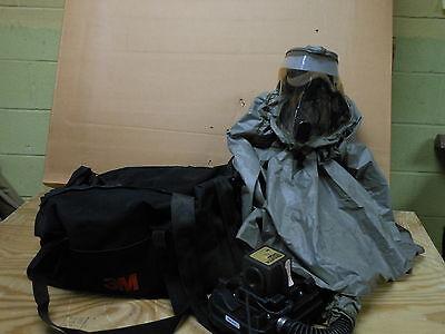 3M Breathe Easy Butyl Rubber Hood Fr 57N10 Papr Respirator No Battery Filters