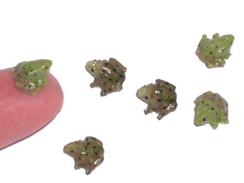 1 miniature dollhouse ity bity Tiny baby Frog loose locket animal nail art mini*