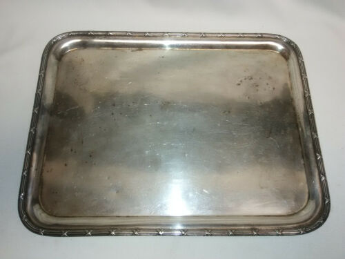 """THE PULLMAN COMPANY 14"""" INTERNATIONAL SILVER CO. SERVING TRAY 1929 BACKSTAMPED"""