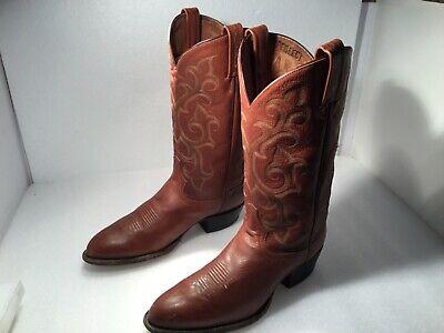 Men's Tony Lama Cowboy Boots Size 10.5B Brown  Leather