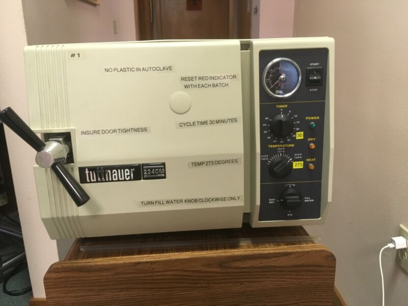 TUTTNAUER 2340M AUTOCLAVE- COLOR TAN- USED- VERY GOOD OPERATING CONDITION
