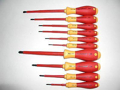Wiha 10 Pc. Insulated Slottedphillips Screwdriver Set 32093